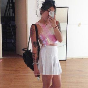 Pink Holographic UNIF Crop